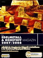 Edelmetall- & Rohstoff-Magazin 2007/08