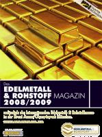 Edelmetall- & Rohstoff-Magazin 2008/09