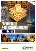Edelmetall- & Rohstoff-Magazin 2012/13