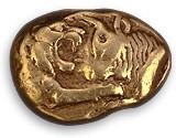 Creseide von Lydien (Kampf zwischen Löwe und Stier), um 650 v. Christi)